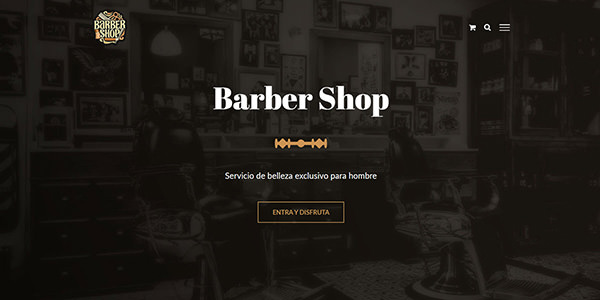 demos wordpress barber shop diseño tienda online wordpress