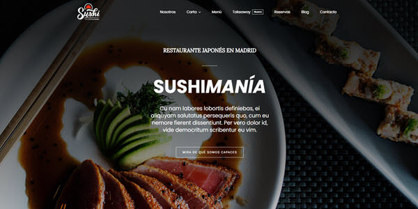 demos wordpress restaurante sushi bar diseño web wordpress